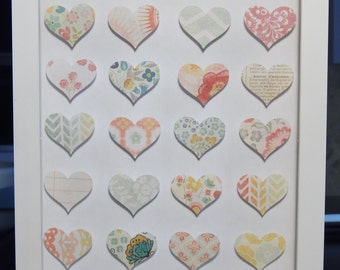 Heart Art - 3D Shadowbox! Key to My Heart! Customizable with your own photos! Any colors, sizes, quotes, or photos can be made!