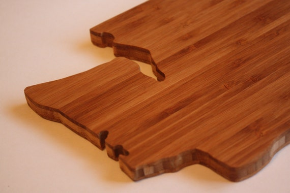 custom state shaped cutting board. Black Bedroom Furniture Sets. Home Design Ideas