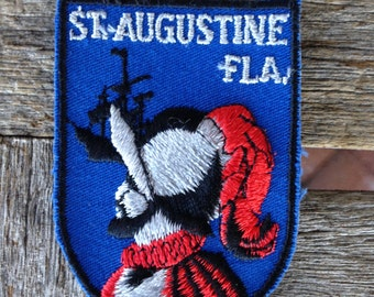 St. Augustine Florida Vintage Souvenir Travel Patch from Voyager - LAST ONE!