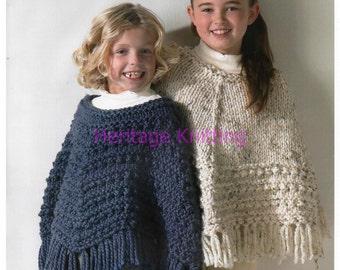 childrens poncho knitting pattern 99p