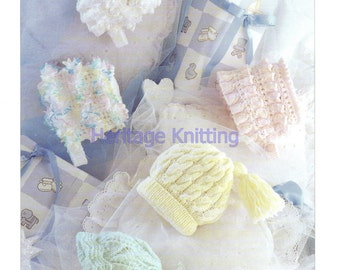 bonnets and hats dk knitting pattern 99p