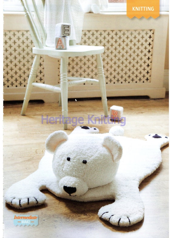 Bear Rug Knitting Pattern : Bear rug dk knitting pattern p