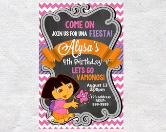 Dora the Explorer Birthday invite,Dora the Explorer invite,JPG file,Invite,Birthday Invite,Dora the Explorer Party,Dora the Explorer invite