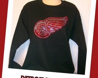 Sweatshirt - Detroit Red Wings (Black)
