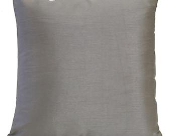 Light Charcoal Pillow, Throw Pillow Cover, Decorative Pillow Cover, Cushion Cover, Pillowcase, Accent Pillow, Home Decor, Silk Blend Pillow.