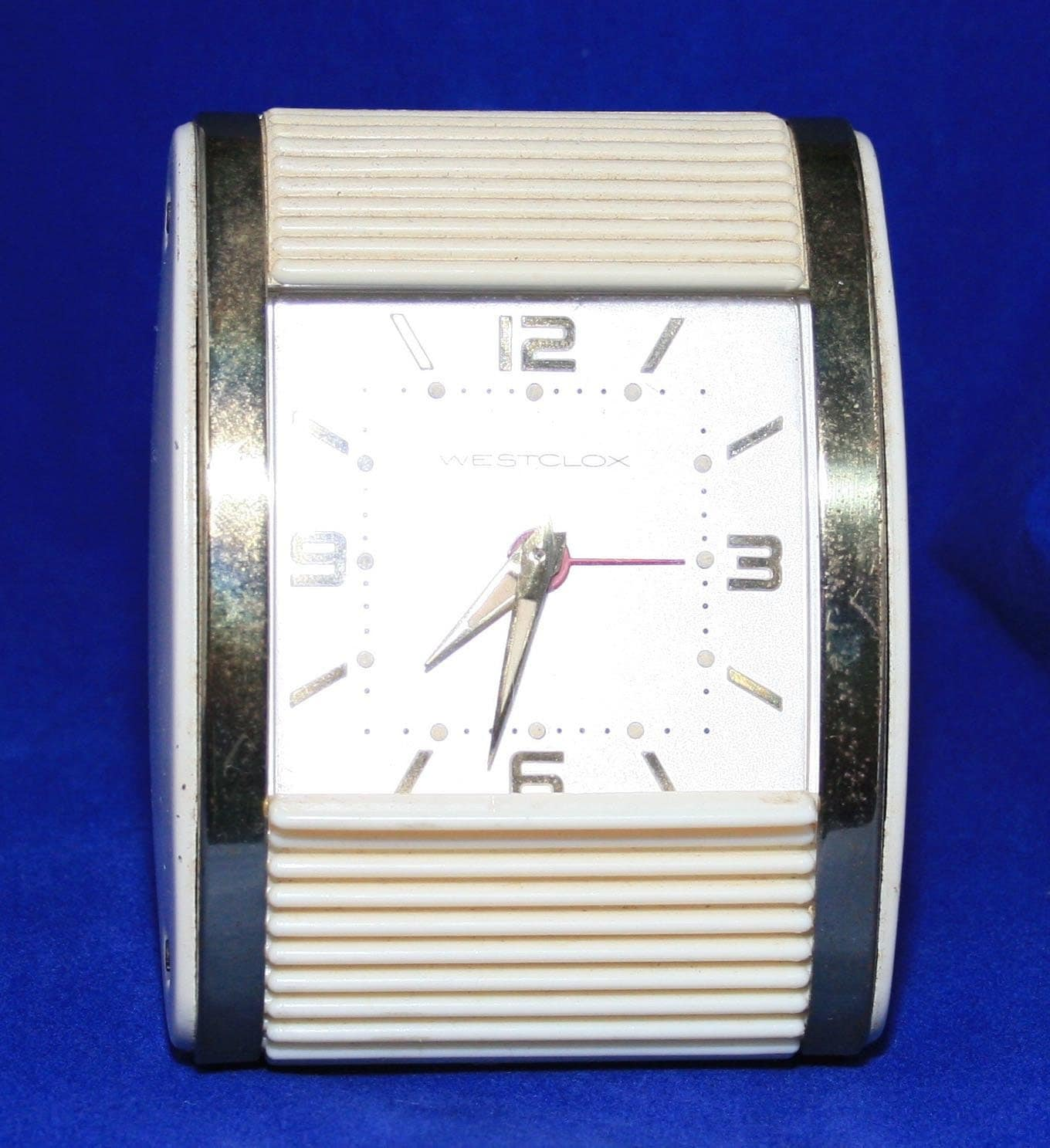 vintage westclox roll top travel alarm clock. Black Bedroom Furniture Sets. Home Design Ideas