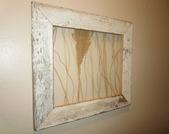 One of a Kind wall art with rustic barnwood frame