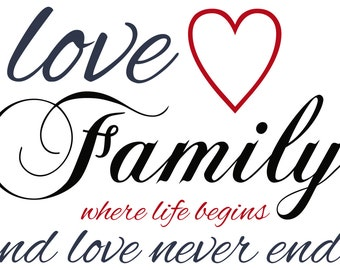 Word Art - Family Quote Print -  Digital File