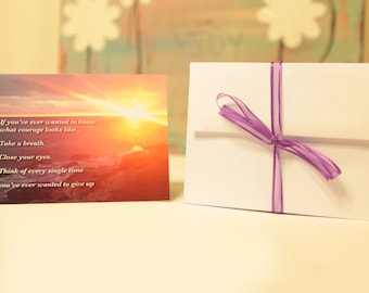 Courage Greeting Cards