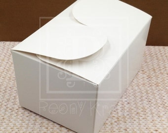 10 Large Favor Boxes, Party Gift Boxes, Holiday Gift Boxes, Cookie Boxes, White Boxes, Gift Boxes, Box Size: 15cm*10.5cm*8.5cm