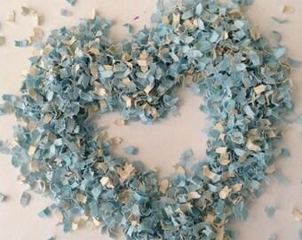 Blue and Ivory Wedding Confetti | Blue Bridal Shower | Blue Baby Shower Decor | Something Blue | Blue Confetti | Blue Wedding Favors