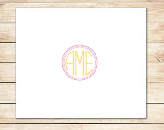 Cute Monogram Card - Monogram Stationery, Stationary
