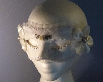 Ivory Statue C Masquerade Mask