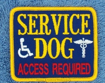 Service Dog Access Required Patch Size 2.75x3.25 inch Danny & LuAnn Embroidery