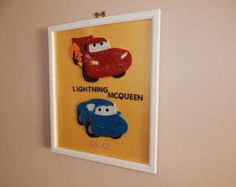 Lightning Mcqueen and Sally from Cars 10 x 12