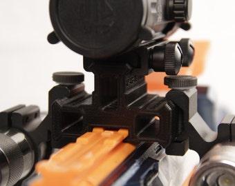 3D Printed – Nerf to Picatinny 90Degree Tri Mini Extension Rail for Nerf Gun