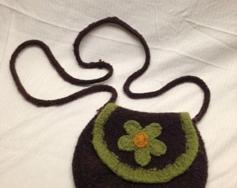Felted Flower Cantina purse