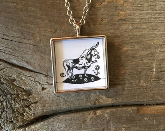 Ferdinand the Bull Pendant Necklace