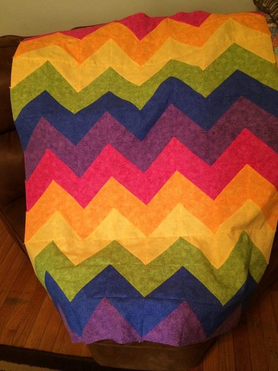 Modern bold chevron quilt