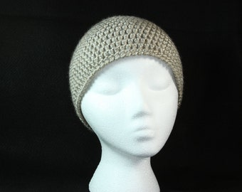 Crocheted Handmade Tan Hat/Beanie/Cloche for Women and Teens