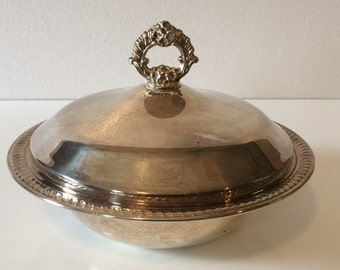 Silver Plated Serving Bowl with Lid