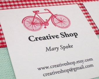 EDITABLE Printable Bicycle - Address Labels, Business Cards, Hang or Price Tags, Gift Tags, - YOU change the text again and again