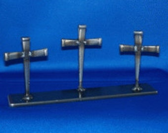 Three small crosses, Metel sculpture figurine