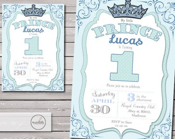 Prince Birthday Invitation / Printable