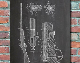 Browning Bolt Action Rifle 1899 Wall Art, Patent Print, Blueprint, Plexity Prints # 011