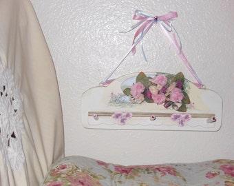 Shabby chic Wall Shelf Wood Hand painted decor by Nalika handmade