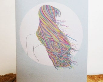 Multicoloured Hair Illustration