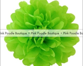 "8"" (20 cm) Lime/Chartreuse Green Tissue PAPER POM POM Flower -- pif . pay it forward . aok . act of kindness . free . clearance sale"