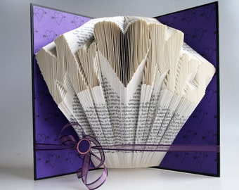 Mr & Mrs Book Folding Pattern: Includes free printable downloads (pdf) to personalise your book art and  full step by step tutorial.