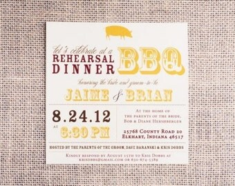 Printable Wedding Rehearsal Dinner Invitation