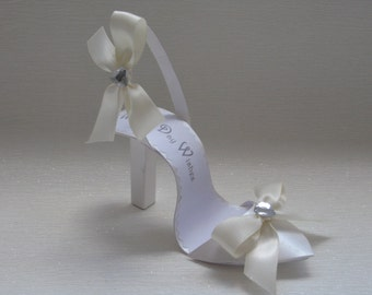 Wedding Day Wishes shoe card