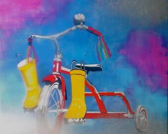 "children's bike in the ""smog"""