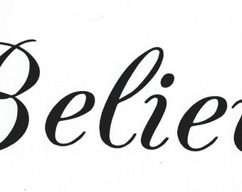 Christian decal, Believe
