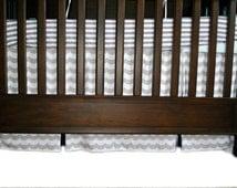 Custom Nursery Bedding Single Box Pleat 3 or 4 Sided Crib Skirt w/ Length Options Crib Bedding
