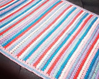 Stripes crochet blanket-crochet stripe blanket