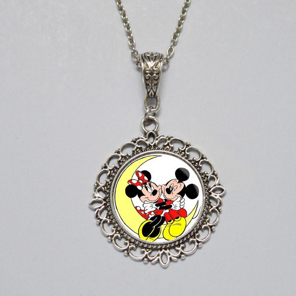 mickey mouse necklace mickey mouse pendant by