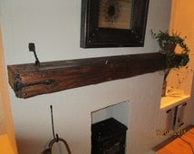Beautiful, Rustic Chunky Mantle Piece made from Reclaimed Wood
