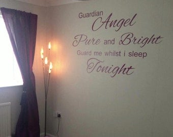 Guardian angel wall sticker,transfer,decal