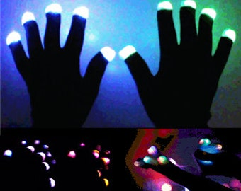 LED Gloves - Fusion - LED Light Up Gloves.  LED Glow Gloves for parties, raves, concerts, festivals and more!