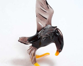 Glass Eagle Art Collectible  Figurine