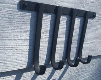 WROUGHT IRON four hooks keychain/keyrack holders
