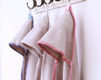 Bamboo hooded towel Pink