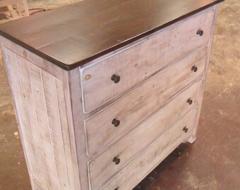 Chest, Dresser, Reclaimed, Salvaged, Solid Wood, Vintage, Rustic, Shabby Chic, VMW715