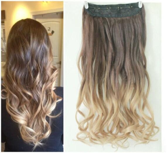 One piece clip in hair extensions dip dye indian remy hair one piece clip in hair extensions dip dye 43 pmusecretfo Images