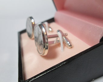 Irish genuine 3d threepenny coin cufflinks 1961 with satin-lined box personalised 57th birthday anniversary wedding