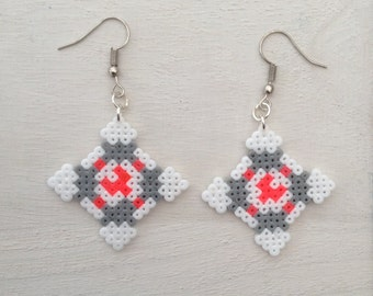 Portal Companion Cube Perler Bead Earrings
